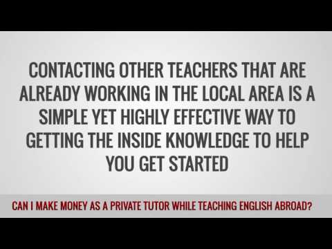 video on your chances to work as a private teacher while working abroad as a TEFL teacher