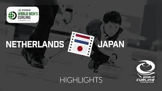 HIGHLIGHTS: Netherlands v Japan - Pioneer Hi-Bred World Men's Curling Championship 2019