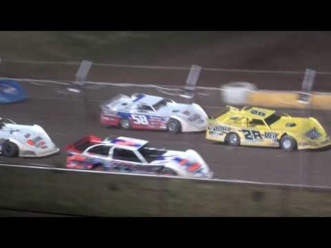 Late Model Feature - Cedar Lake Speedway 06/18/2021 - dirt track racing video image