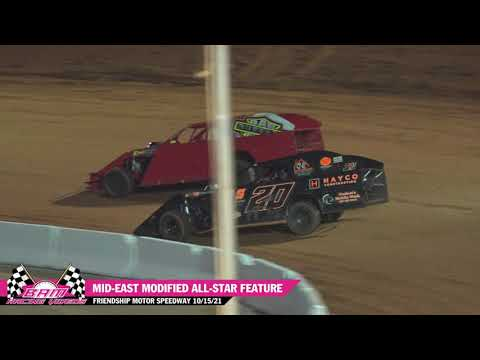Mid-East Modified All-Star Feature - Friendship Motor Speedway 10/15/21 - dirt track racing video image