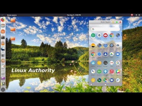Mirror screen & control Android using seven-square (Ubuntu