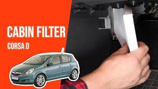 Cambio filtro aria abitacolo Opel Corsa D
