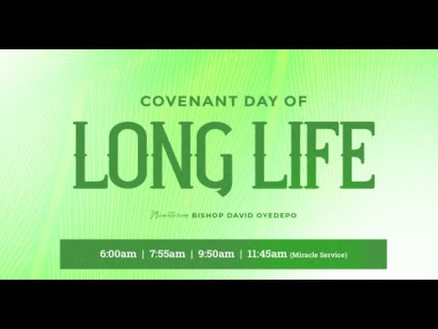 DOMI STREAM: COVENANT DAY OF LONG LIFE SERVICE  18, APRIL 2021.