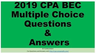 2019 CPA BEC QA7 - Area - V - Standard Costing