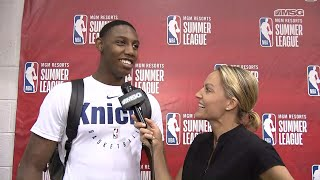 RJ Barrett Sums Up His Summer League Performance With Knicks | NBA