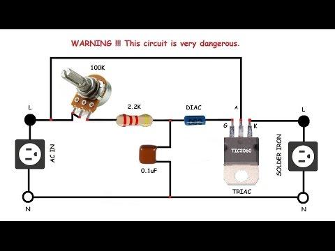 Solder Iron Controller, Light dimmer, AC motor speed controller. - default