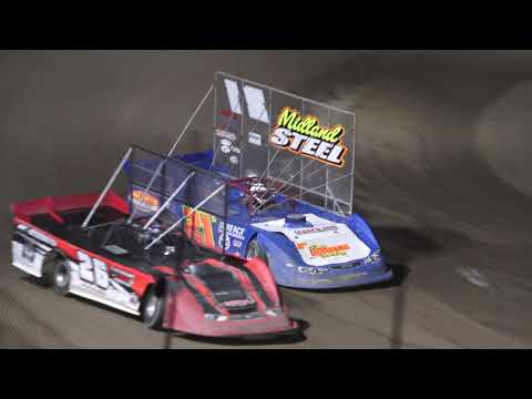 Outlaw Late Model 4 car dash at Crystal Motor Speedway, Michigan on 09-05-2021!! - dirt track racing video image