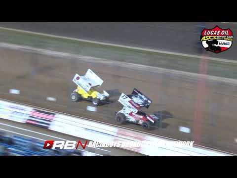 Lucas Oil ASCS Sat Jesse Hockett/Daniel McMillin Memorial at Lucas Oil Speedway September 21, 2019 - dirt track racing video image