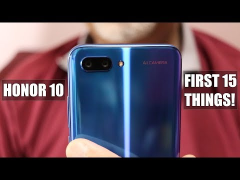 Honor 10 - Tips & Tricks - First 15 Things To Do! - UCK498_9ZfvVI-AJKeWY2_Yg