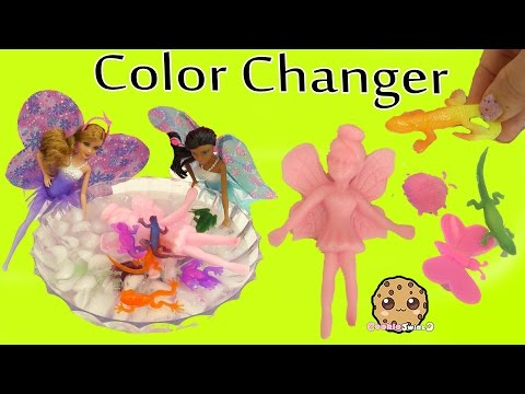 Barbie Dolls Grow Changerz Animals & Color Change Stretchy Frogs + Lizards in Ice Water - UCelMeixAOTs2OQAAi9wU8-g