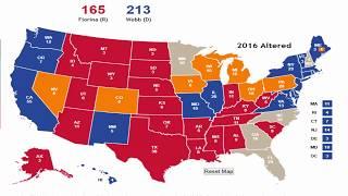 Alternate History 2016 Election Prediction - Fiorina vs Webb