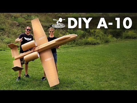 Flying 8-Foot A-10 Warthog made from Dollar Store Foamboard - UC9zTuyWffK9ckEz1216noAw