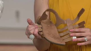 Vionic Leather Gladiator Sandals - Harissa on QVC