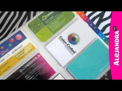 How to Organize Business Cards w/ Northern Virginia Professional Organizer Alejandra Costello - UCcvu0uB6SzugED_5FEC7Z0Q
