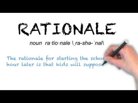 How to Pronounce 'RATIONALE'- English Grammar
