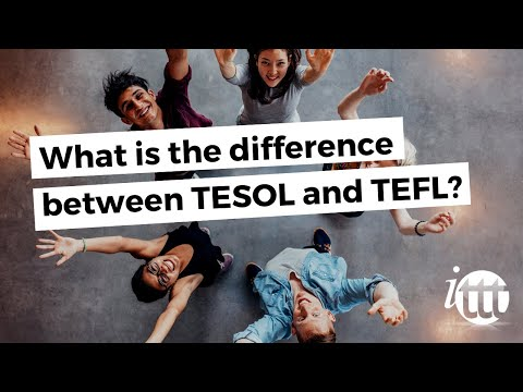video explaining the difference between TEFL and TESOL