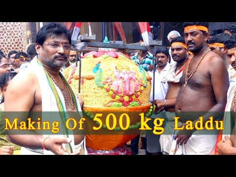 MAKING OF 500 KG'S LADDU (Indian Desserts)  WORLD FAMOUS KHAIRATABAD GANESH 500 KG'S LADDU MAKING - UC4zjmczhKe3sEgHMzs01M_Q