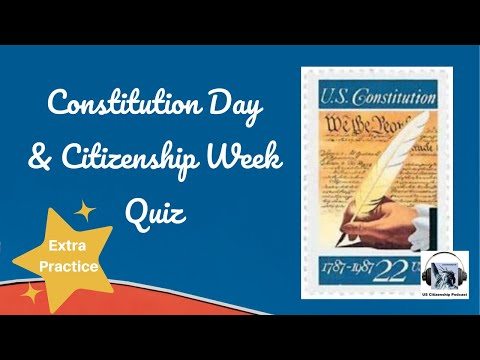 Constitution Day and Citizenship Week Quiz