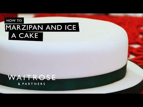 How to Marzipan and Ice a Christmas Cake | Waitrose
