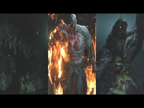 Resident Evil 2 Remake - All Boss Fights & Ending  (RE2 Remake 2019) PS4 Pro - UCfVhjM2_XVvO5eGbOK-MO0A