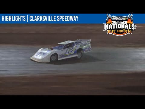 DIRTcar Summer Nationals Late Models Clarksville Speedway July 24, 2021   HIGHLIGHTS - dirt track racing video image
