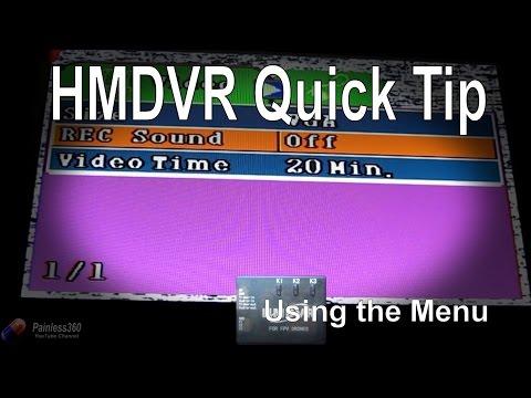 RC Quick Tips: HMDVR FPV Recorder - Accessing the Menu and changing settings - UCp1vASX-fg959vRc1xowqpw