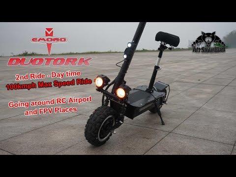 EMOBO DuoTork Electric Kick Scooter 100kmph Morning Ride to FPV - UCsFctXdFnbeoKpLefdEloEQ