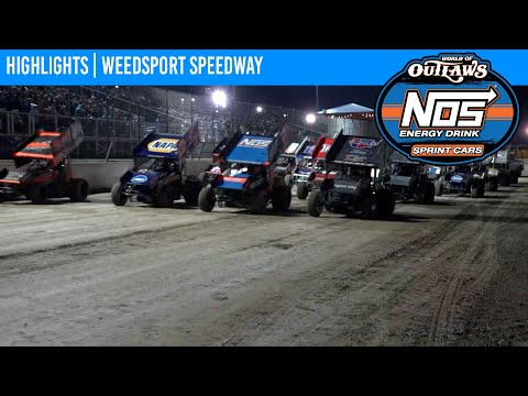 World of Outlaws NOS Energy Drink Sprint Cars Weedsport Speedway, July 31, 2021   HIGHLIGHTS - dirt track racing video image