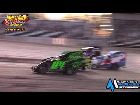 Jamestown Speedway Slingshot Races (8/14/21) - dirt track racing video image