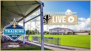LIVE: Sean Payton, Saints players Live from Day 25 of Saints Training Camp - Monday, Aug. 19, 2019