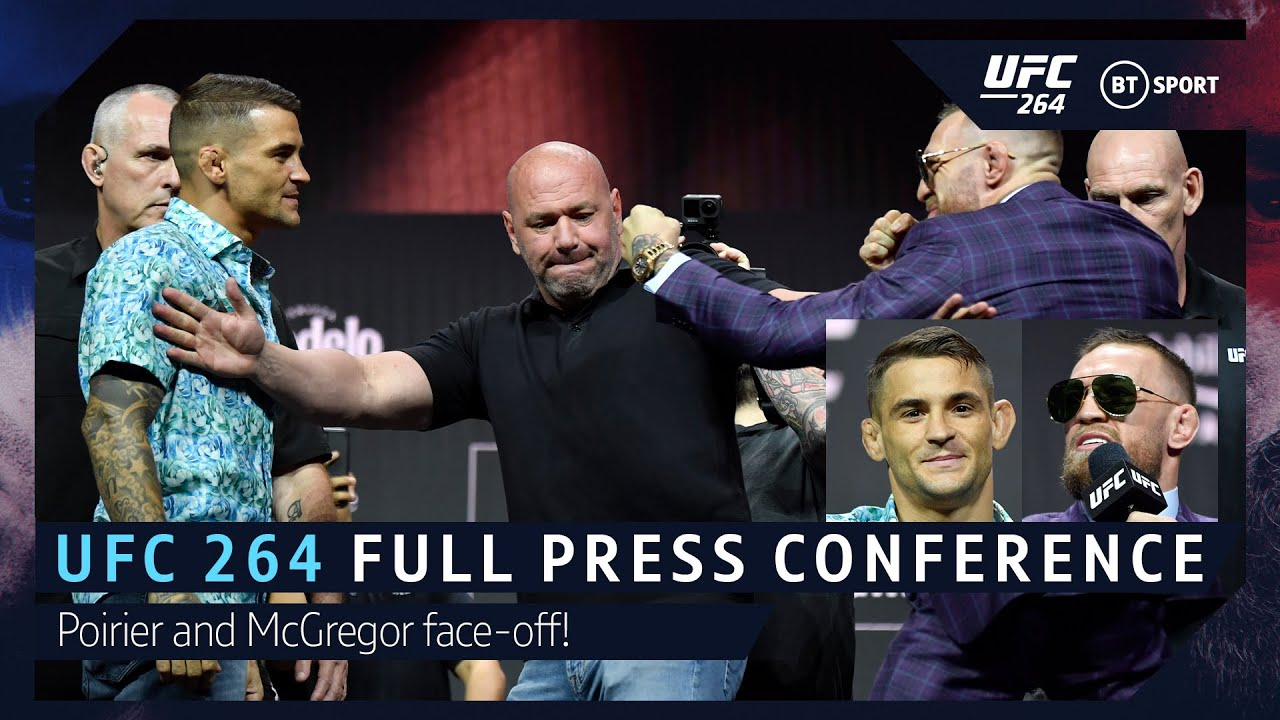 UFC 264 Full Press Conference: Conor McGregor kicks out at Dustin Poirier!