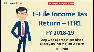 Steps to File Income Tax Return for Free - ITR1 in हिंदी | Explained on Income Tax Website