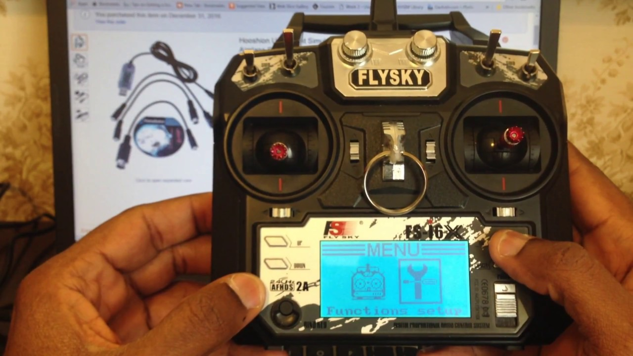 Flysky Fs-i6x Setup Procedure For The Hooshion USB Flight