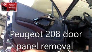 Smontaggio pannello portiera anteriore PEUGEOT 208