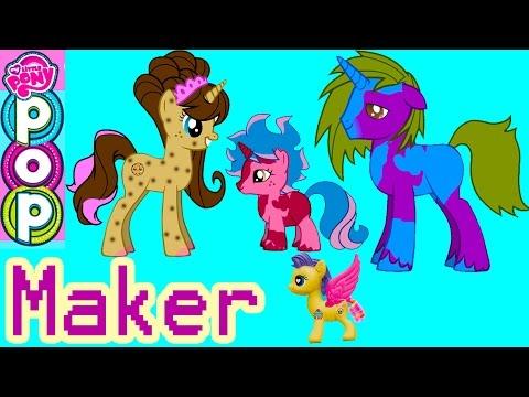 MLP POP My Little Pony Custom Maker 300K Subs Special Cookie Swirl Fluttershy Pinkie Pie Game Play - UCelMeixAOTs2OQAAi9wU8-g
