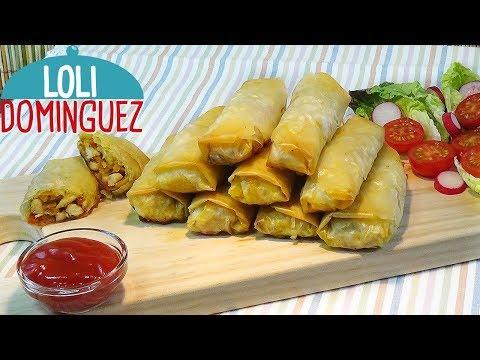 Rollitos crujientes de pollo con verduras. Receta muy fácil con pasta filo. Loli Domínguez - UC5ONfXPjWgqElh0NZaRJ1tg