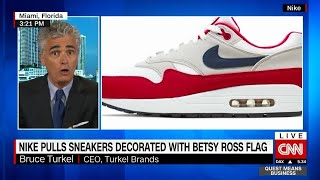 Nike pulls sneakers decorated with Betsy Ross flag