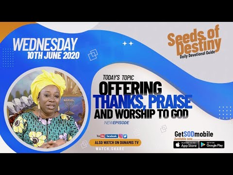 Dr Becky Paul-Enenche - SEEDS OF DESTINY  WEDNESDAY JUNE 10, 2020