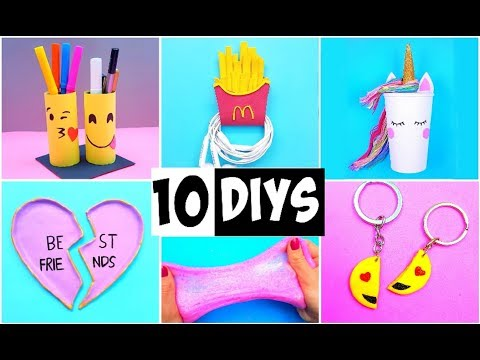 MAKING 10 AMAZING DIY BFF Gift Ideas, School Supplies, Room Decor & Organization COMPILATION! - UCbJ26x6k9EI_8_lm1JoBd_A