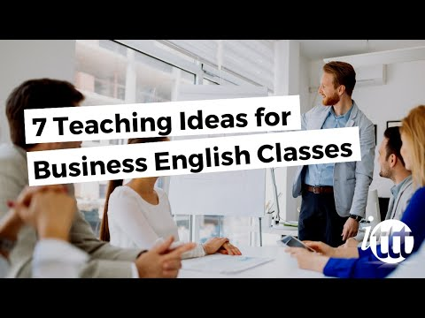 7 ideas for business English classes
