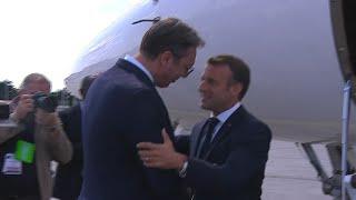 Le président français Emmanuel Macron arrive à Belgrade | AFP Images