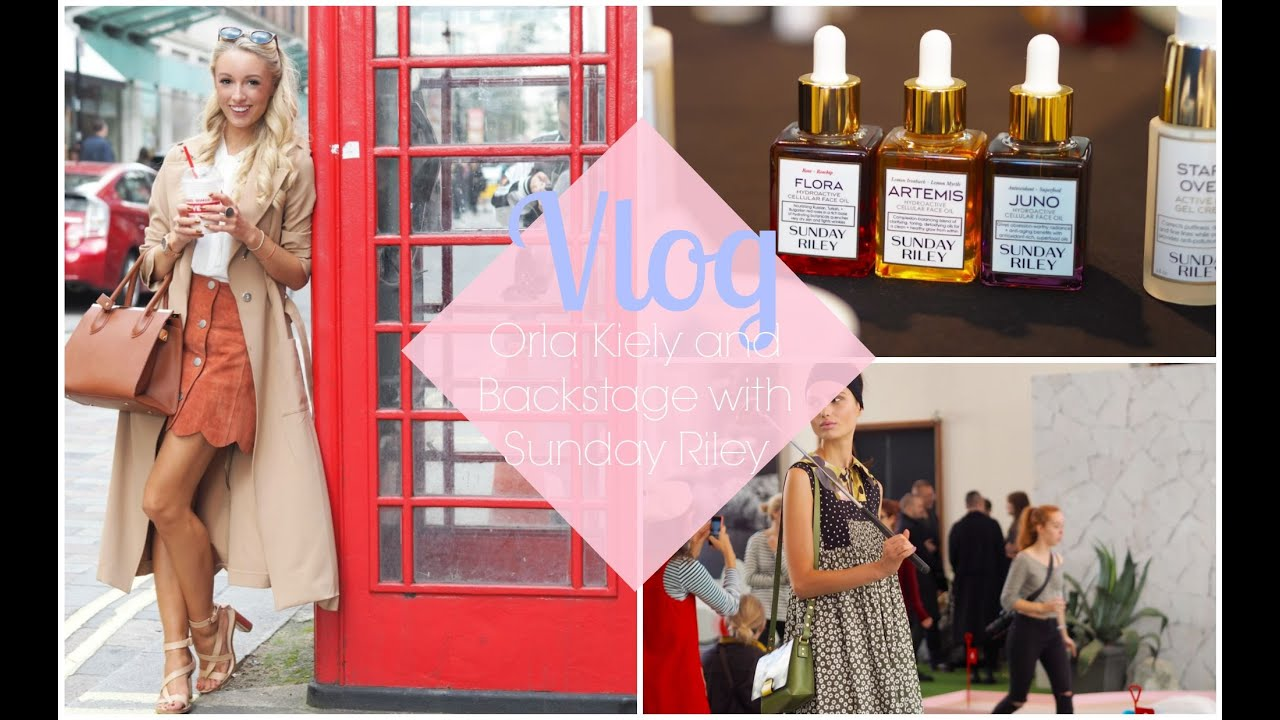 LFW VLOG : London Fashion Week Day 2 - Orla Kiely and Backstage with Sunday Riley  |  Fashion Mumblr