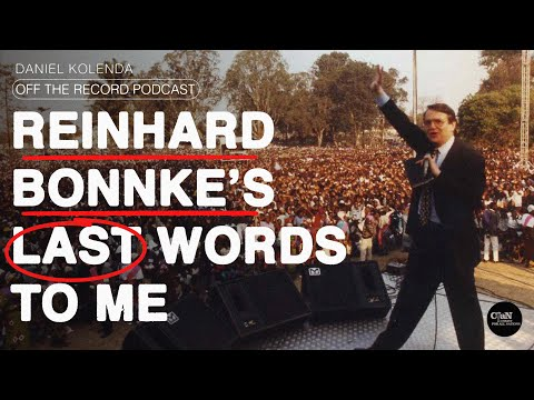 Reinhard Bonnkes Last Words to Me  Daniel Kolenda: Off The Record Podcast