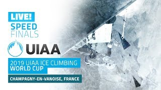 LIVE! Champagny, France l Speed Finals l 2019 UIAA Ice Climbing World Cup
