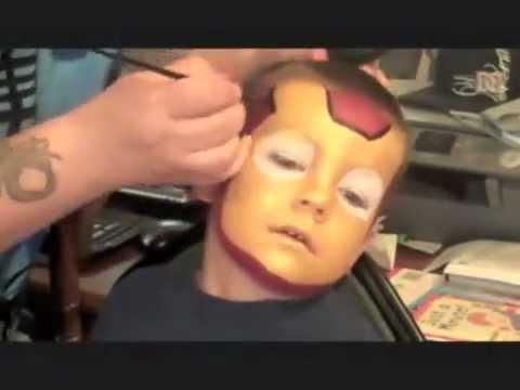 Iron Man Face Painting | Marvelous Masks Chicago Face Painter - UC51wSX1tA50O_1kBdD-ra1A