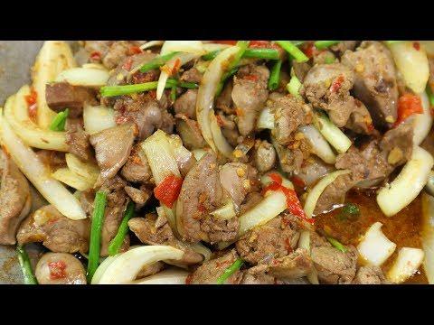 ตับไก่ผัดหอมใหญ่ ทำง่ายอร่อยใครก็ทำได้ Chicken Liver with Onion | นายต้มโจ๊ก