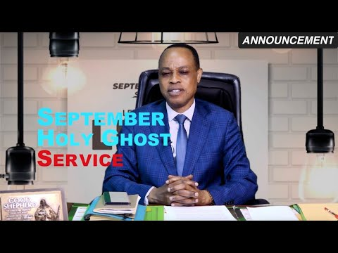 RCCG SEPTEMBER 2020 HOLY GHOST SERVICE  ANNOUNCEMENT