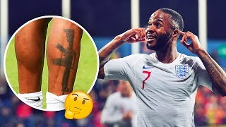 Raheem Sterling's tattoo which caused a huge scandal in England