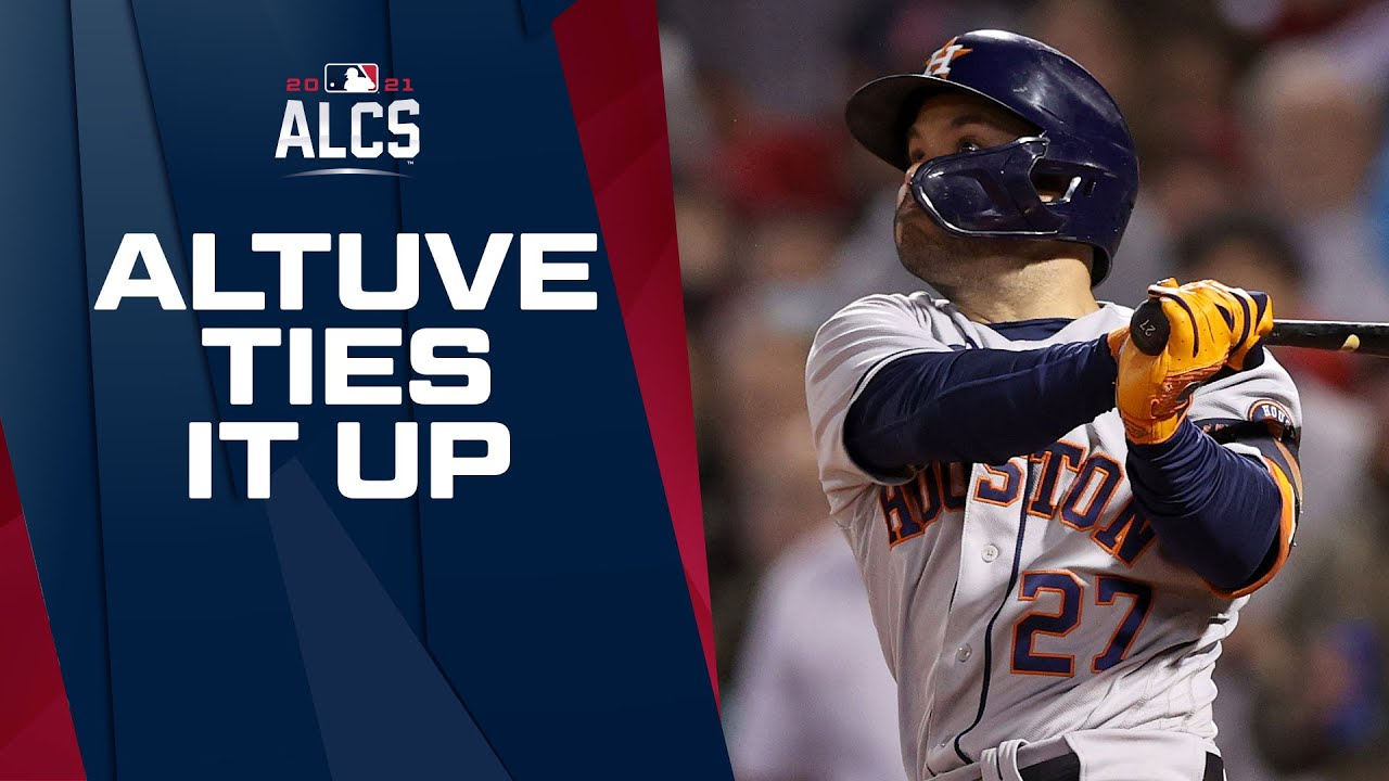 TIE GAME!! Astros' José Altuve smashes homer over the Green Monster to tie up ALCS Game 4!