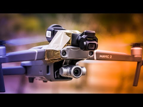DJI OSMO POCKET ON A MAVIC 2 DRONE